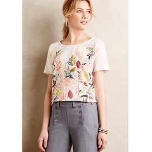 Anthro knitted & knitted Michelle morin floral top